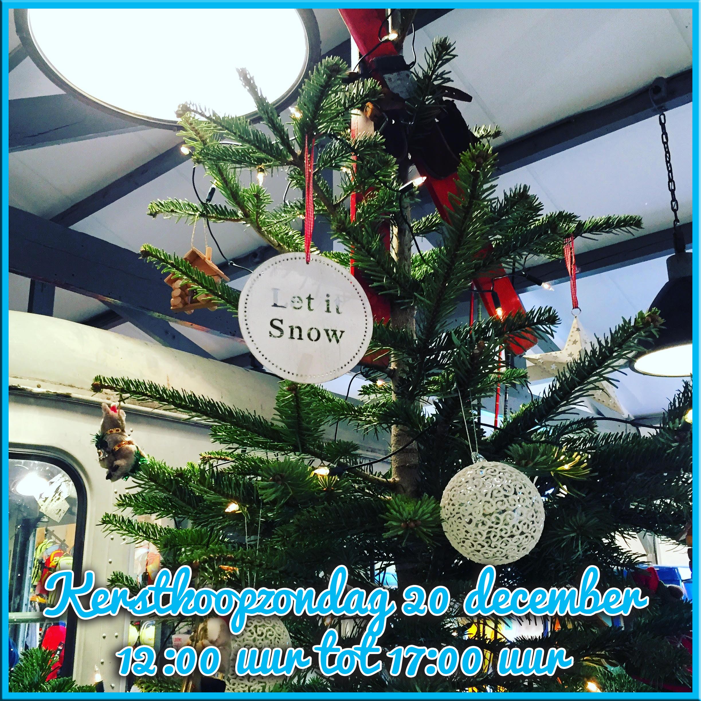 Kerstkoopzondag 20 december