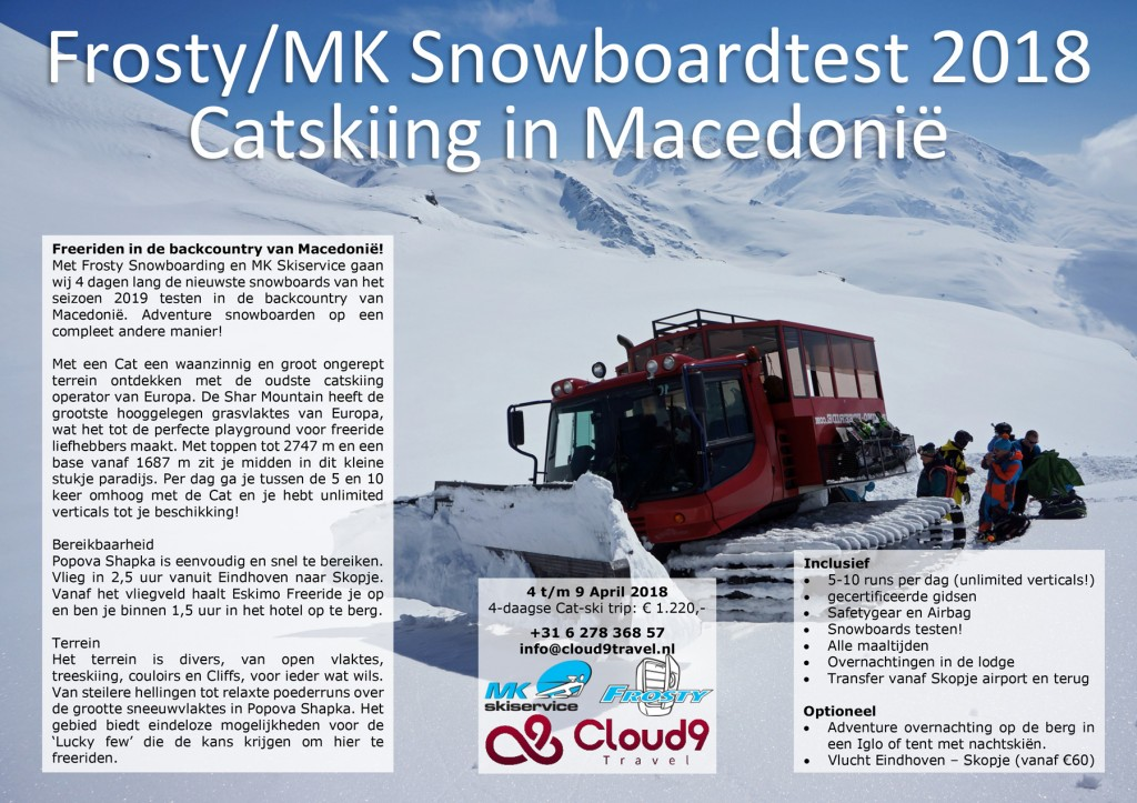 Snowboardtest-Catskiën-Macedonië-4-9-april-2018
